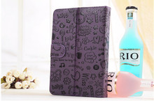 2014 quality alibaba girl cartoon tablet purple leather case for 10.1 inch tablet