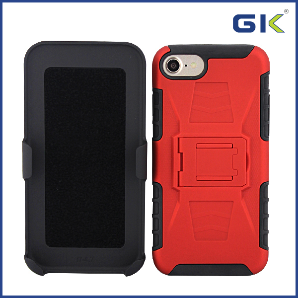 [GK] Armor With Back Clip And Stand 3 in 1 Hybrid Cover For iPhone 7 Celulares Case