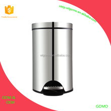 5L bathroom stainless steel trash can/dustbin/foot pedal bin with inner bucket