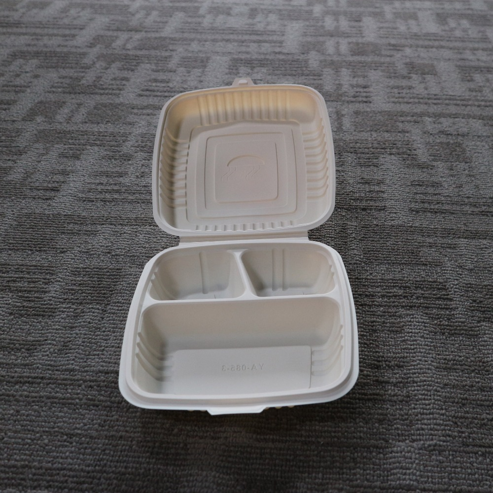 Renewable Plant Fiber Clamshell Lunch Boxes