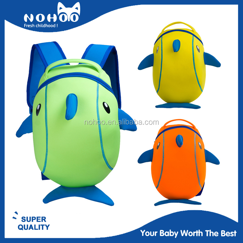 nohoo factory design new product 3d cartoon school bags for small kids
