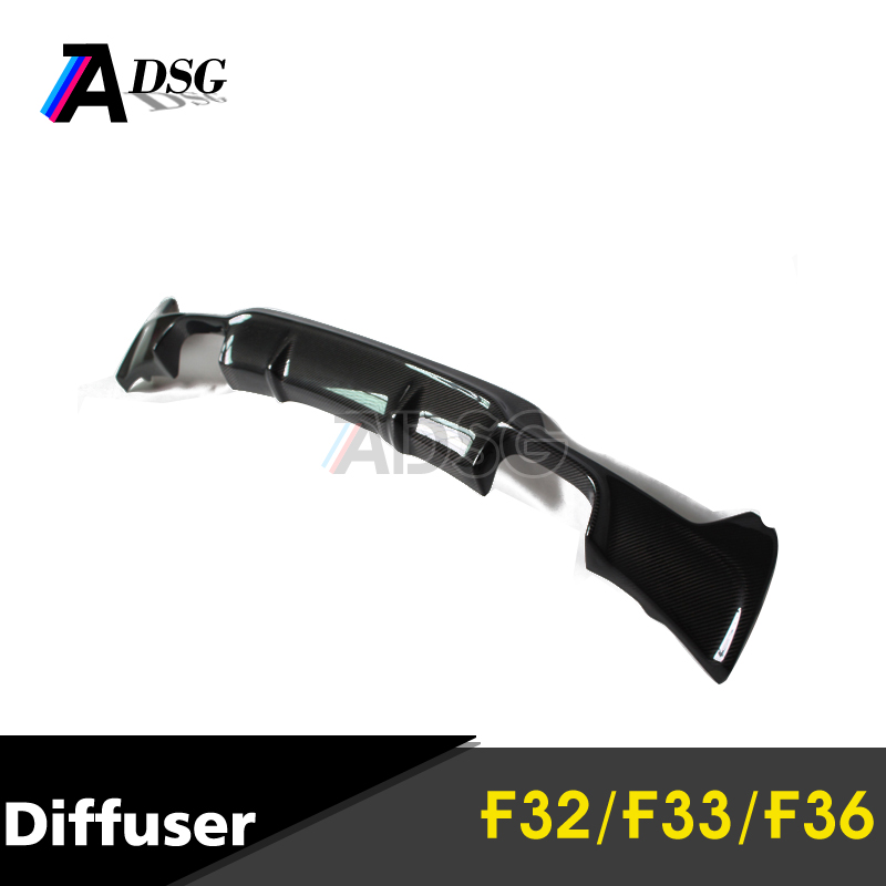 F32 F33 F36 quad carbon fiber diffuser for BMW 4 series M Sport MTech trim