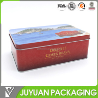Eco- friendly empty tin cold food cosmetic safety can packaging box