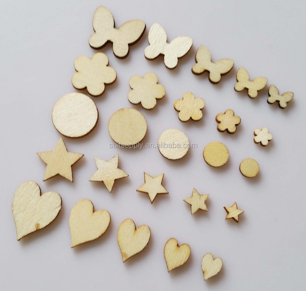 Customized Mix Sizes Mix shapes Rusic Nature wood Flatback Decorative Buttons Craft accessories
