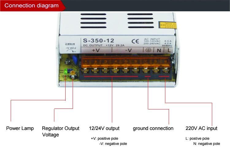 400w Smps 110v 220v Ac 12v 24v 10a 20a Dc Regulated Led Power Supply ...