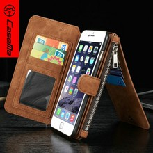 Detachable Custom Cell Phone Leather Case for iPhone 6 6s, Credit Card Wallet Case for iPhone 6s Cover