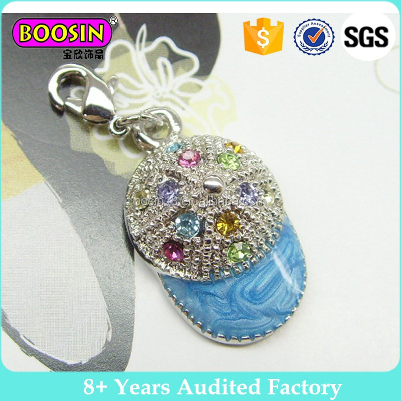 China Manufacturer Wholesale Bag Shaped Charm Crystal Stone Alloy Pendant for Necklace#1741