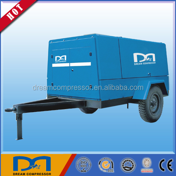 diesel engine portable screw type air compressor wholesale with factory price