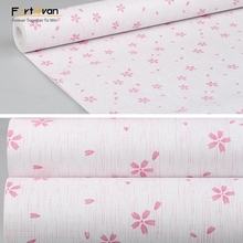 Pink flower PVC Self Adhesive Vinyl Wallpaper