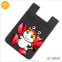 Custom design cartoon promotion gift mobile phone silicone card holder