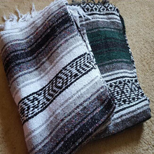 SZPLH Retro Pattern Extra Large Customized Design Mexican Woven Throw