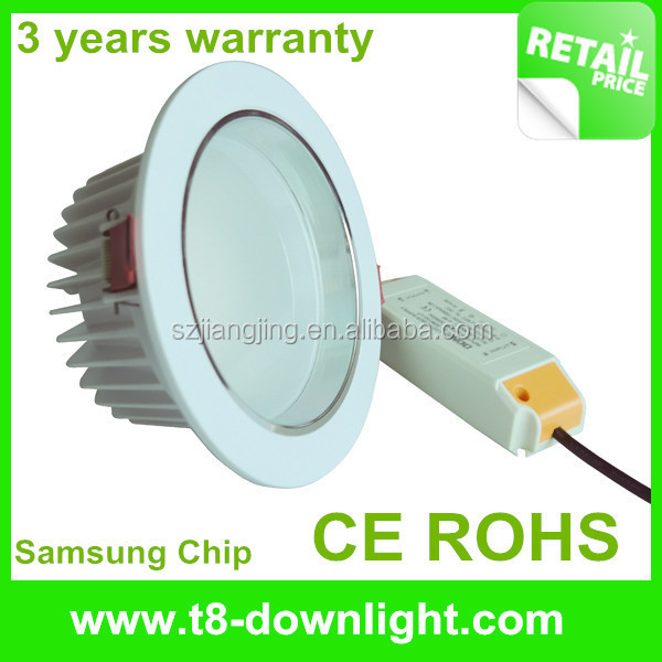 High CRI smd5630 dimmable downlight led light aluminium components