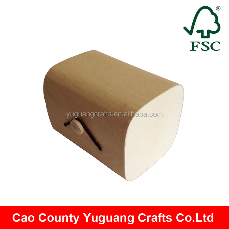 fashion design fsc wood unfinished wooden soft box for tea packing