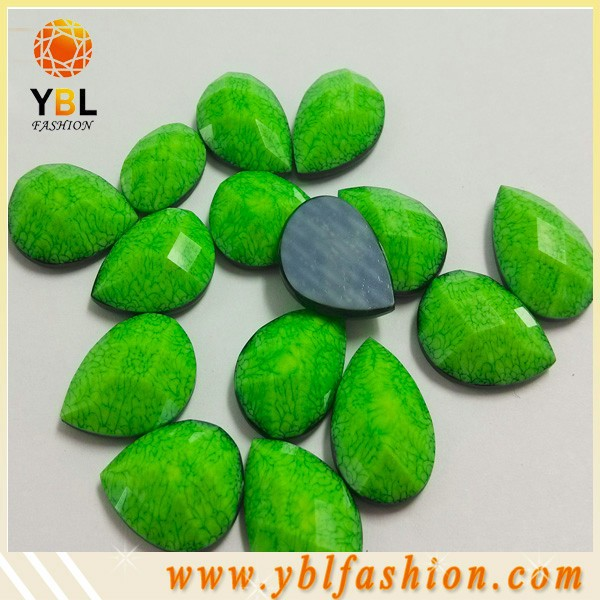 green embossing hotfix epoxy plastic acrylic stone for clothes
