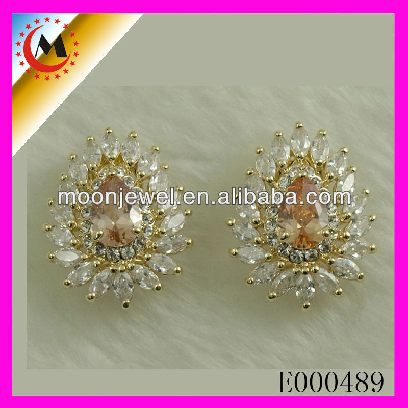 BEAUTIFUL COLORED FULL OF CRYSTAL JEWELRY PRINCESS ACCESSORIES EARRINGS 2015 FASHION DIAMOND CRYSTAL EARRINGS