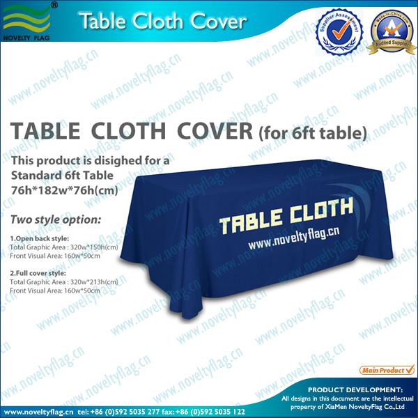 Table Cloth / Table Banner / Table Cover for Wholesale,Retail,Trade Show,etc
