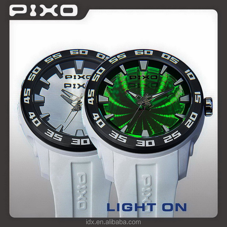 PX-8 winner silicone sport stainless steel watches chronograph logo supplier world wrist watch men oem