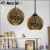 industrial hanging lighting vintage 3d glass pendant lamp