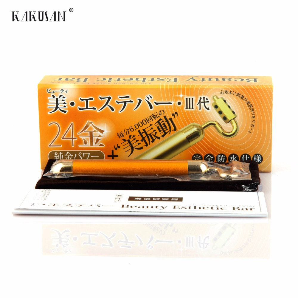 hot sale electric high frequency vibrating 24k beauty bar