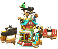 Turkish customized funfair equipment rotating equipment kungfu panda ride for sale