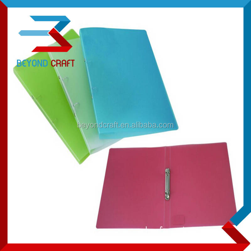 A5 PP clear plastic 2 ring A4 binder