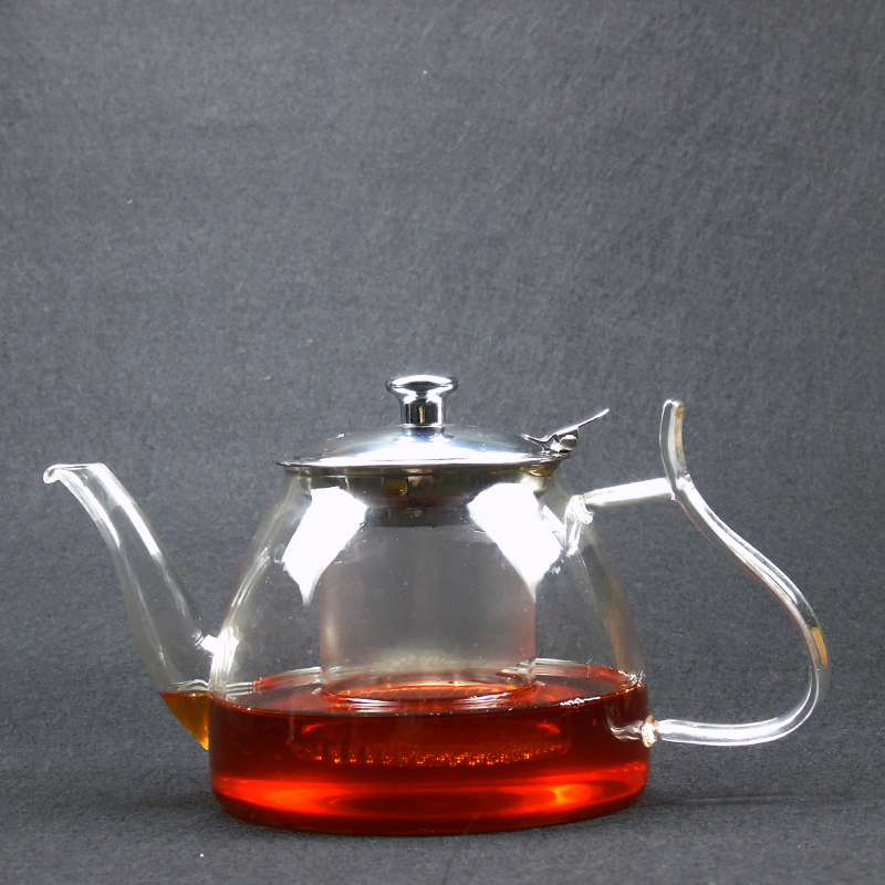 Heat Resistant Glass Teapot Electric Tea Kettle Stainless Steel Teacup Set With Tea Infuser