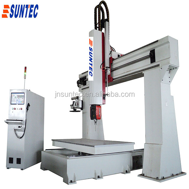 osai control HSD 360 degree spindle rotary movable table 5 axis cnc router for 3d model making ST1325