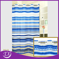 white blue breathable shower curtain wholesale