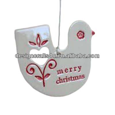 Unique Design Bird Shaped Pattern Ceramic Christmas Tree Decor