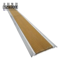 colorful pvc inserted decorative aluminum metal thresholds