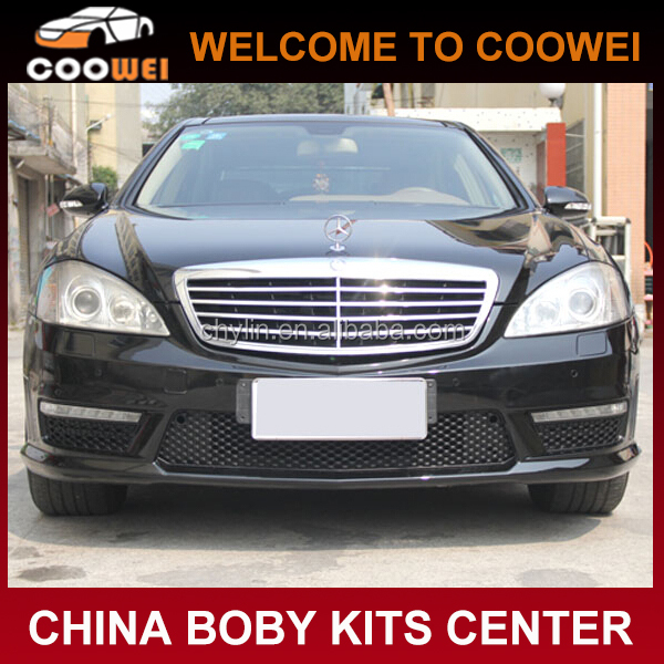 S Class S65 AMG Bodykit Front Bumper With LED DRL lights For Mercedes Ben-z W221