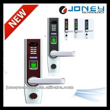 Zinc alloy European standard mortise Intelligent electric Finger print door Lock with OLED Display and USB Interface