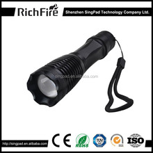 2016 hot sale wholesale high power zoomable led torch led flashlight torch