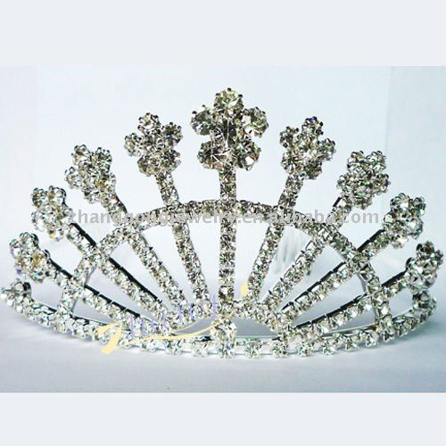 shining rhinestone pageant tiara