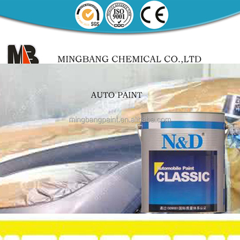 Automobile color base coat paint