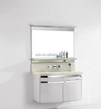 cheap price led mirror Stainless Steel portable bathroom cabinet