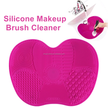 Wholesale Silicone cleaning brush Makeup Brush Cleaner Mat with suction cups