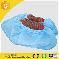 Free Sample!! disposable cpe shoe cover/nonwoven overshoes