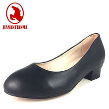 executive work safety shoes high heel antiskid leather shoes for woman