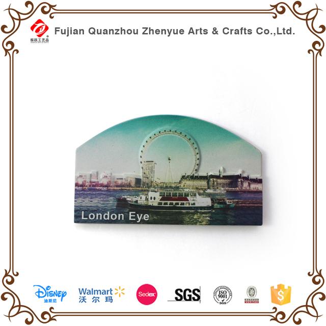 Resin London Eye souvenir fridge magnets, Fridge magnets world cities