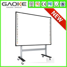 2016 Multi-touch 4 users Optical interactive whiteboard wall mounted 88'' smartboard