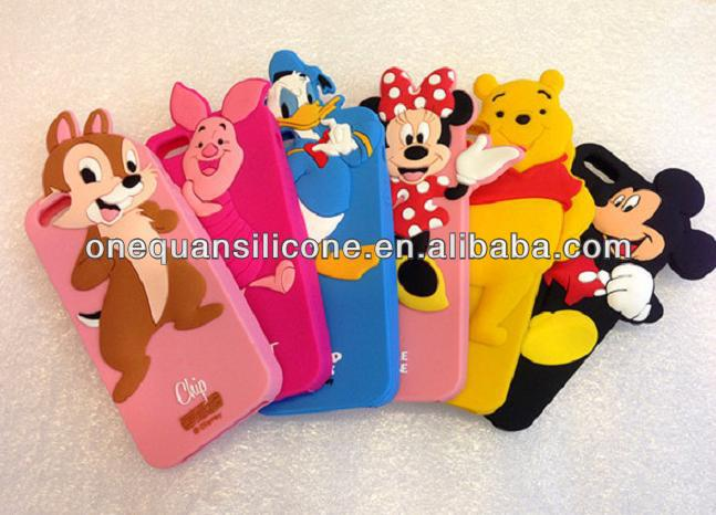 3D cartoon silicone Cover for disney silicone phone case