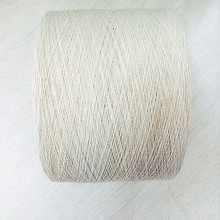 Cotton polyester raw white knitting yarn for glove Ne6