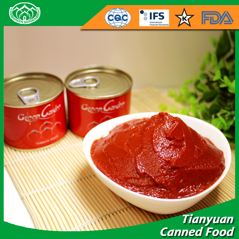 Canned tomato paste in tin brix 28-30%