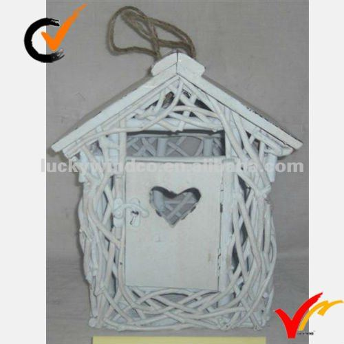 2014 white color painted homes outside bird house wooden