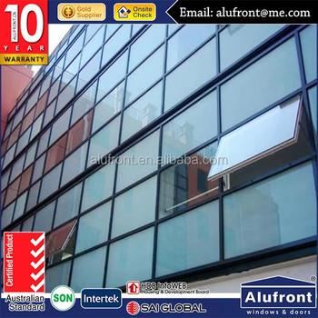 guangzhou ALUFRONT building material price aluminum curtain walling system for project