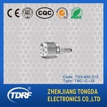 TNC rf coaxial plug connector for car telephone