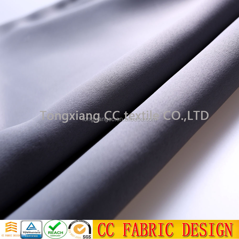 polyester lining curtain fabric , both sides curtain fabric from china textile factory