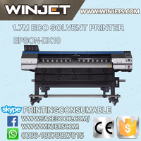 Flex printing machine DX10 eco solvent digital printer