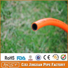 Cixi Jinguan Flexible Orange PVC Gas Hose for Gas Grill,Cheap Home Use Braided PVC Cooking Gas Hose,Plastic Natural Gas Hose